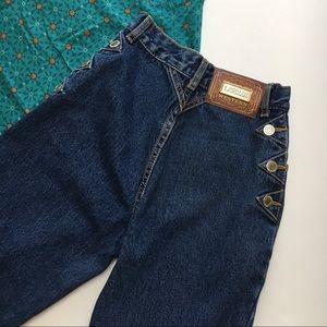 Lawman Vintage Western Jeans, High Waist, sz 1